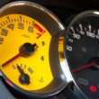 Sportscar yellow speed gauge — Stock Photo #12299346
