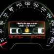Intelligent speed control technology indicator in dashboard — Stock Photo