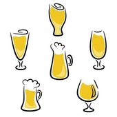 Beer glass — Vector de stock
