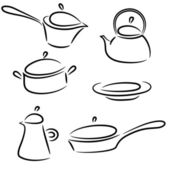 Collection of ware — Stock Vector