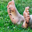 Dirty Feet — Stock Photo