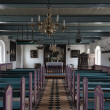 Interior of Church on Mando in the wadden sea, Denmark - Stock Photo