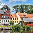 Old part of the market town Nyborg — Stock Photo