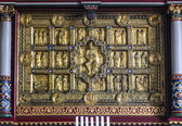 Golden medieval altar in Stadil church, Jutland, — Stock Photo
