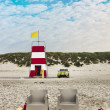 Lifeguard station on a beach — Stock Photo