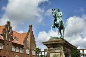 Christian 10 statue, Esbjerg — Stock Photo