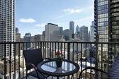 City view from condo balcony — Stock Photo