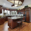 Kitchen with granite counters - Stock Photo