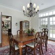 Dining room in suburban home - Stock Photo