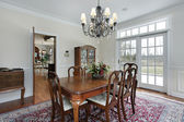 Dining room in suburban home — Stock Photo