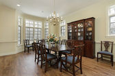 Diningroom with cream colored walls — Foto Stock