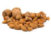 Filberts , almonds and walnuts — Stock Photo