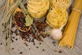 Still Life with Spaghetti — Stock Photo