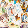 Collection of old stamps — Stock Photo #11907668