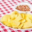 Stock Photo: Chips and Pico De Gallo Salsa
