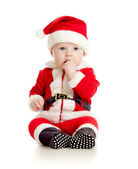 Cute baby in Santa Claus clothes — Stock Photo
