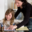 Stock Photo: Helping mom