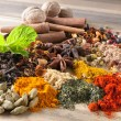 Stock Photo: Mix of beautiful spices