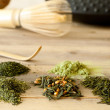 Japanese tea assortment — Stock Photo