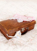 Bridal suitcase — Stock Photo