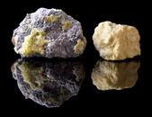 Natural sulphur minerals — Stock Photo