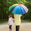 Umbrella stroll — Stock Photo