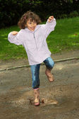 Dancing in the mud — Stock Photo