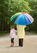 Umbrella stroll — Stock Photo