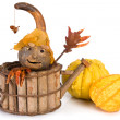 Pumpkin puppet — Stock Photo