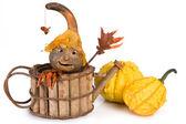Pumpkin puppet — Stock Photo