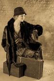 Waiting lady twenties style — Stock Photo