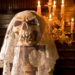 Death with a bridal veil - Stock Photo