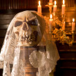Stock Photo: Death with bridal veil
