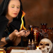 Stock Photo: Bewitched fire