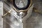 Skull on the wall — Stock Photo