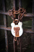 Rusty Lock and Chain — Stock Photo