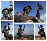 Teversal Miners Statue — Stock Photo