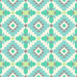 Stock Vector: Seamless ethnic pattern in mint tints