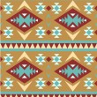 Stock Vector: Seamless pattern in navajo style #4
