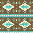 Stock Vector: Seamless pattern in navajo style #5