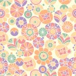 Seamless pattern with bright flowers — Stock Vector