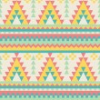 Stock Vector: Aztec pattern in pastel tints