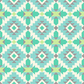 Seamless ethnic pattern in mint tints — Stock Vector