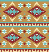 Seamless pattern in navajo style #4 — Stock Vector