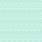 Seamless pattern with ocean waves #2 — Stock Vector