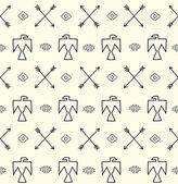 Seamless pattern in native american style — Vector de stock