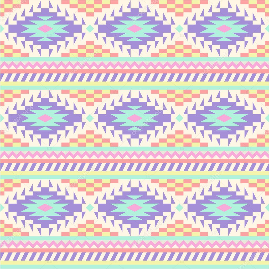 Seamless ethnic background in Pastel Aztec Pattern Wallpaper