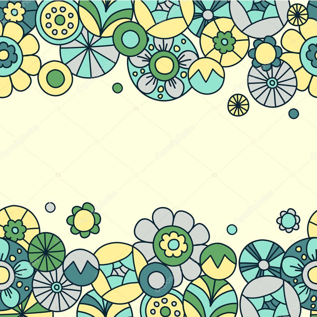 Floral invitation card 1 Template frame design for card – Template Invitation Card