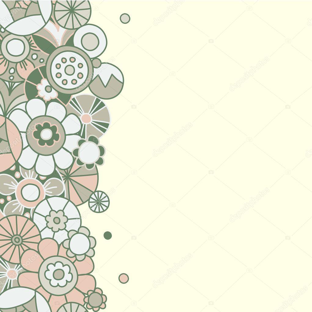 Floral invitation card 3 Template frame design for card – Template Invitation Card