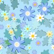 Light blue flowers pattern — Stock Vector